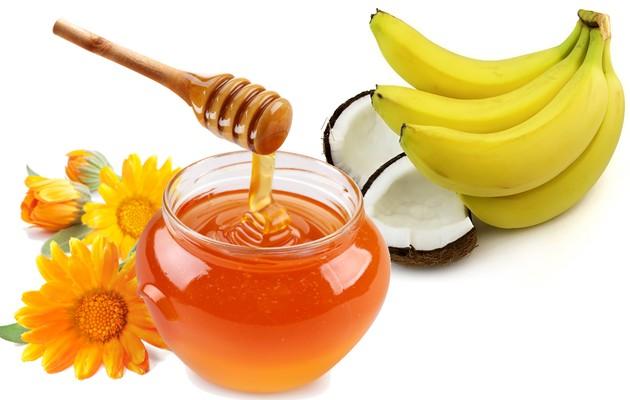 Мед, бананы, кокос и цветы