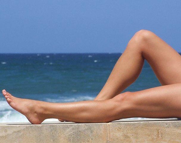 Увлажненная кожа ног