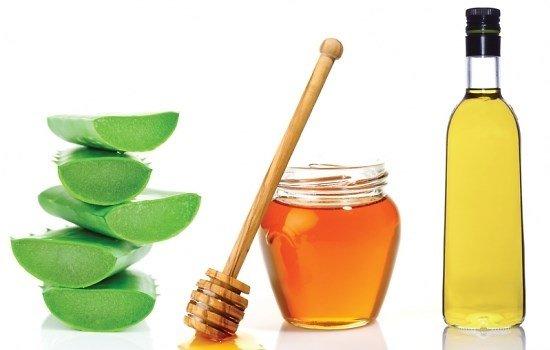 Алое, мед и оливковое масло