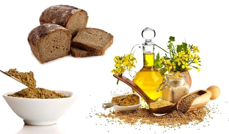 Хна, горчичное масло и ржаной хлеб