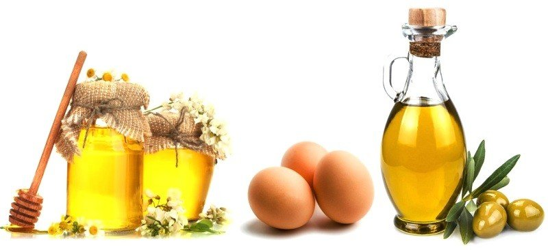 Мед, яйца и оливковое масло