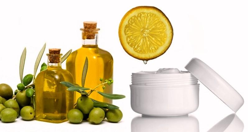 Оливковое масло, крем и лимон