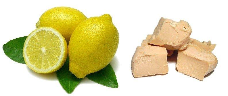 Дрожжи и лимон