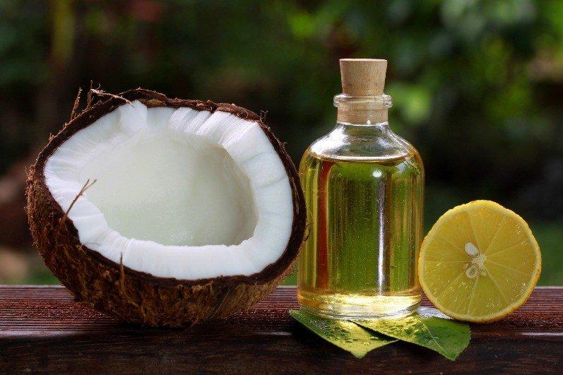 Кокос, лимон и кокосовое масло