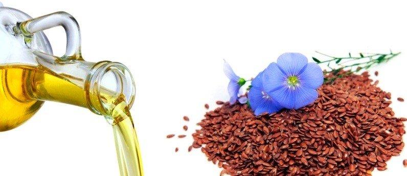 Льняное масло, семена и цветы