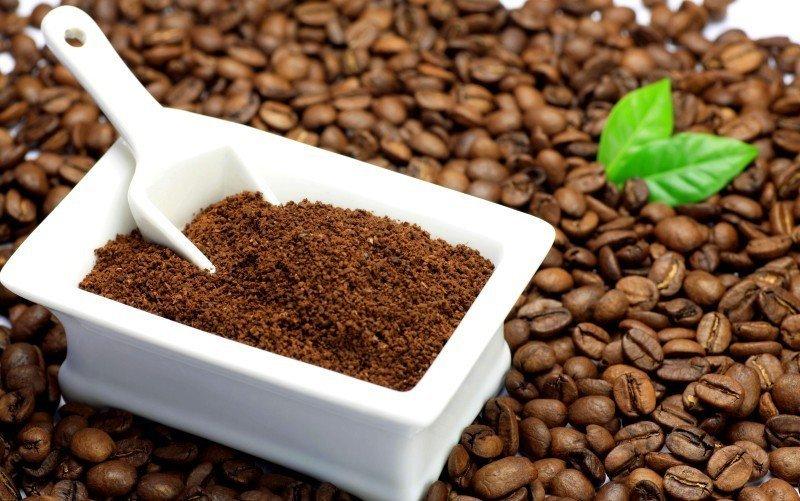 Молотый кофе и зерновой