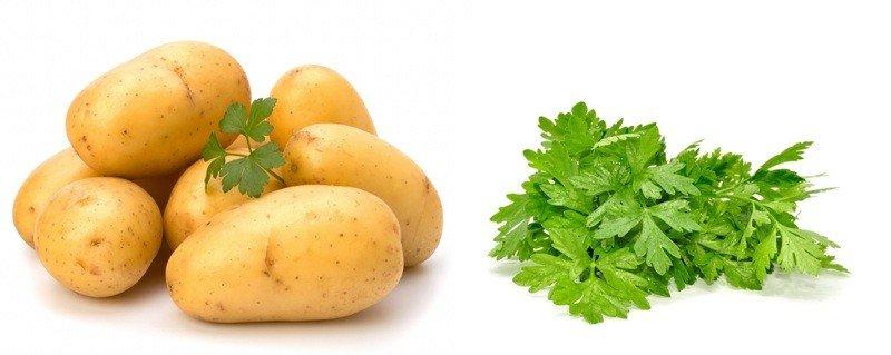 Картофель и петрушка