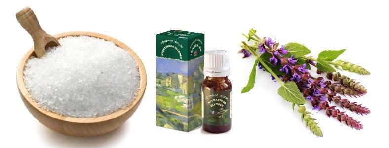 Морская соль и масло шалфея