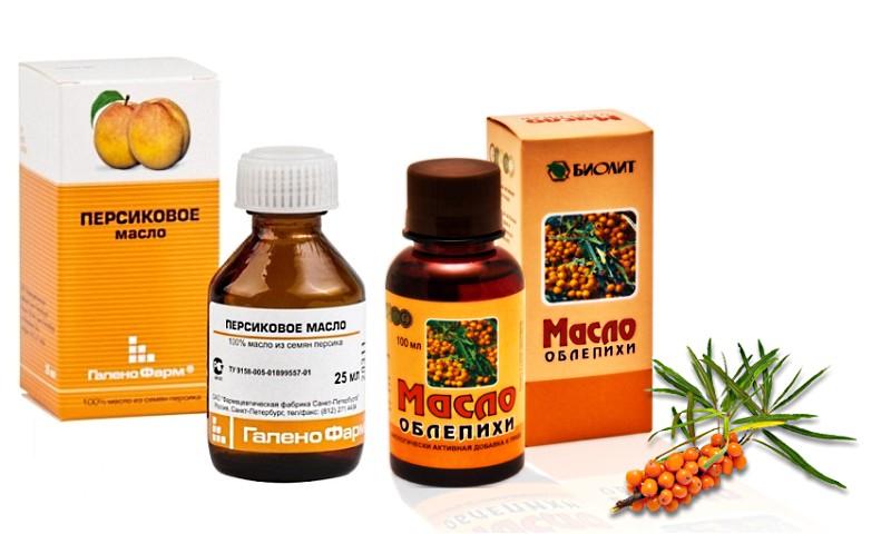 Облепиховое и персиковое масло