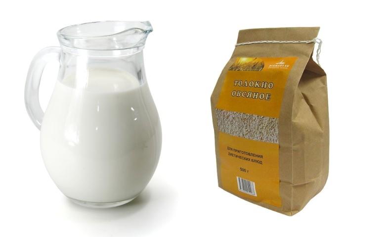 Овсяное толокно и молоко