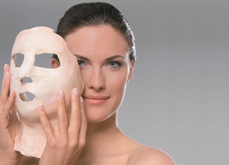 Альгинатная маска для лица, женское лицо