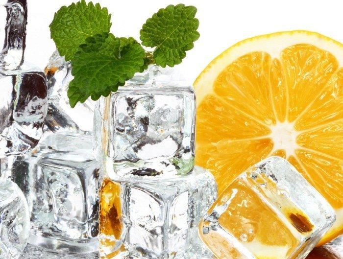 Лед для лица с мятой и апельсином