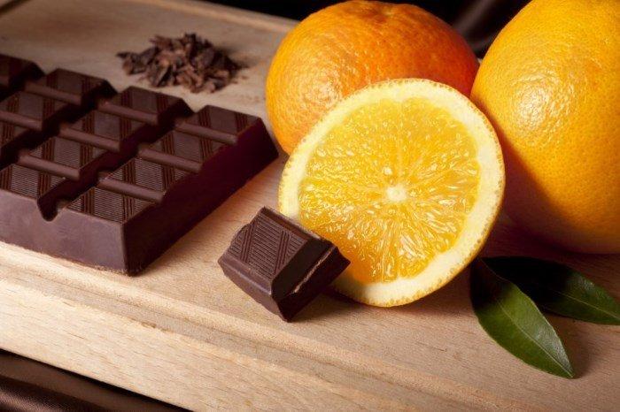 Цитрусовые и шоколад