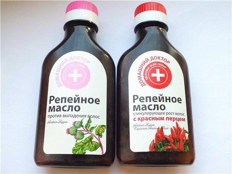 Готовая аптечная смесь репейного масла с перцем