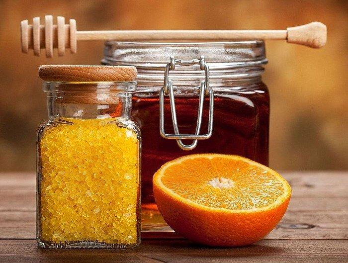 Морская соль, мед и апельсин
