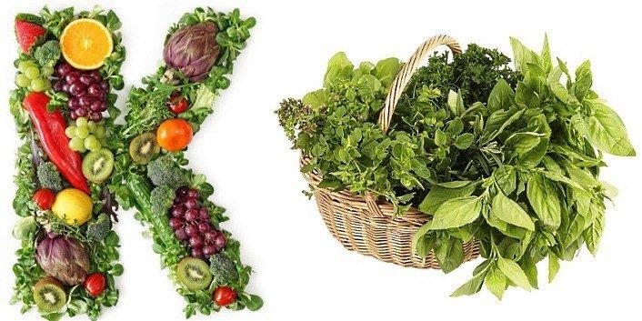Витамин К и продукты, в которых он содержится