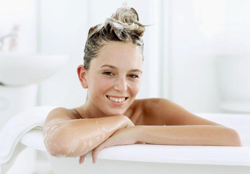Мытье головы натуральным шампунем из горчицы