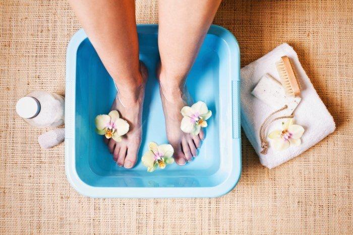 Ванночка для ног с содой