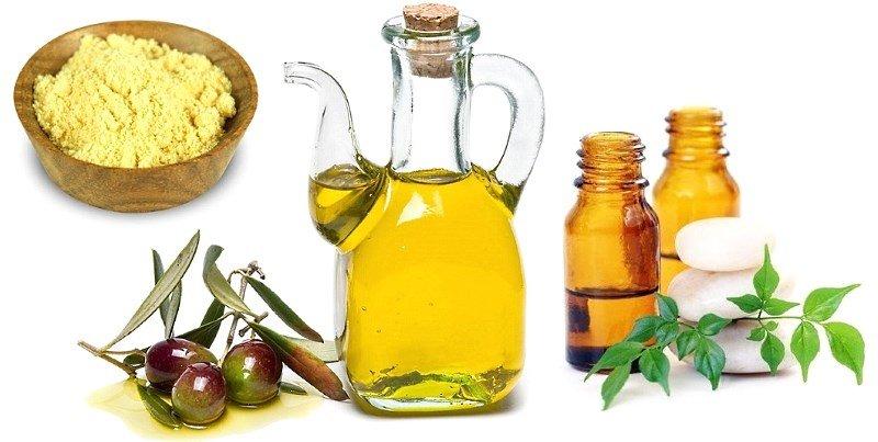 Желтая глина, оливковое и эфирное масло