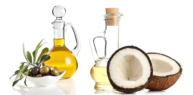 Кокосовое и оливковое масла полезны для ухода за вьющимися и густыми волосами