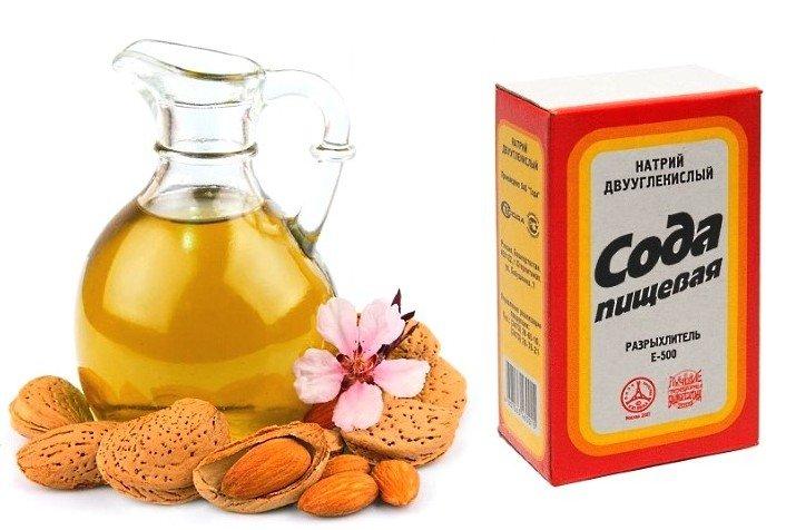 Сода и миндальное масло