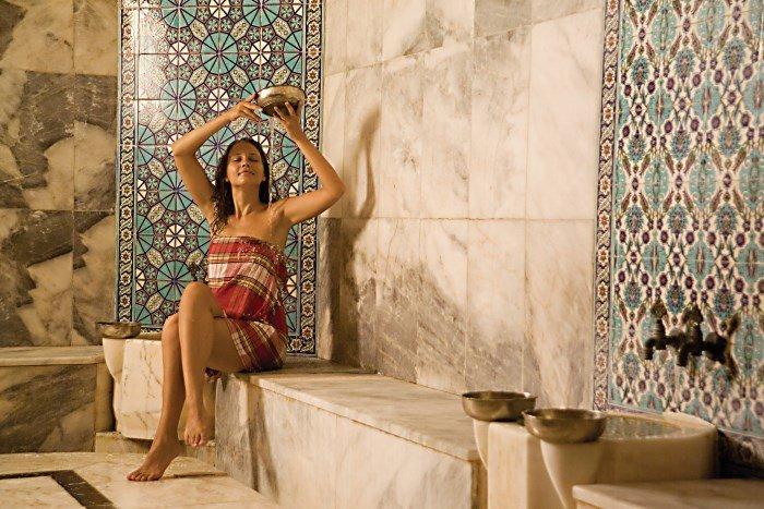 В турецкой бане хаммам