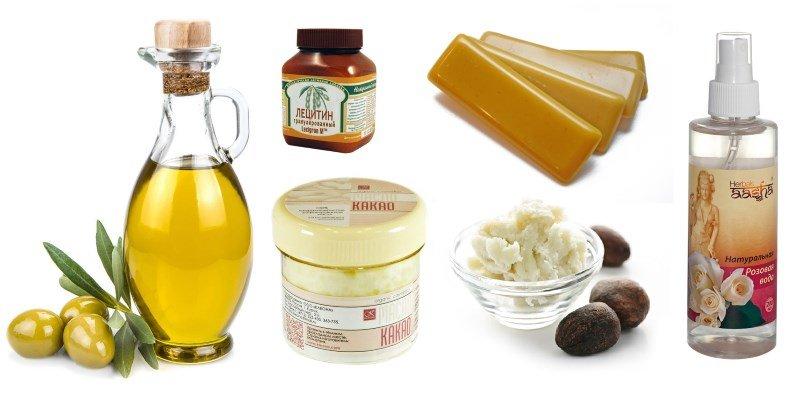 Популярные компоненты для домашнего крема