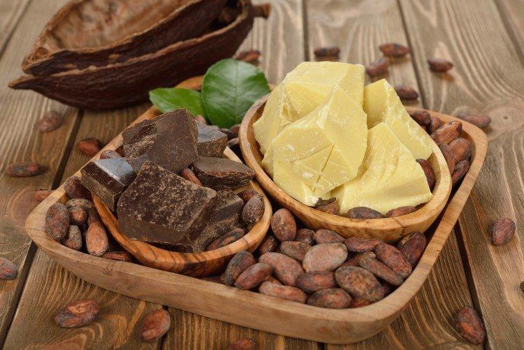 Масло какао и горький шоколад для крема для тела