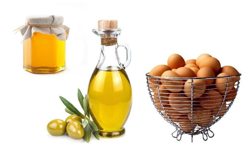 Мед,, оливковое масло, яйца