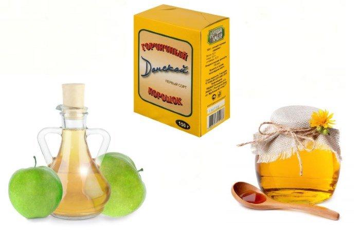 Мед, яблочный уксус и горчица от целлюлита