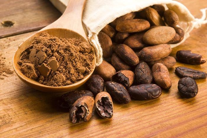 Какао: порошок и бобы