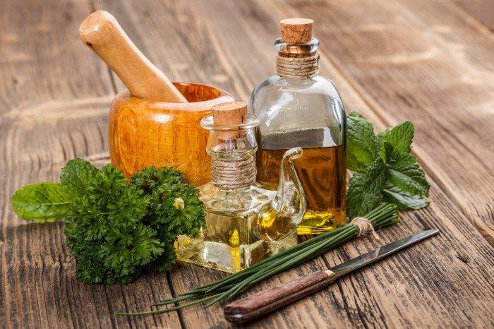 Народные средства для проблемной кожи, травы и масла