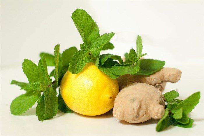 Мята, лимон и имбирь