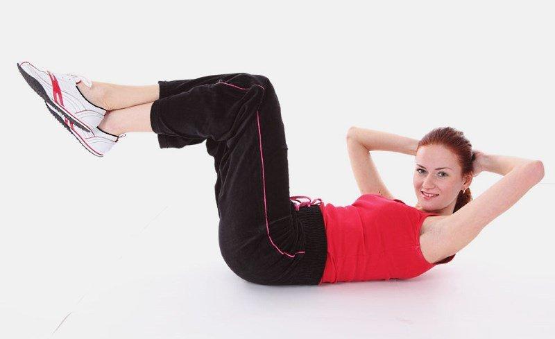Упражнения для похудения живота