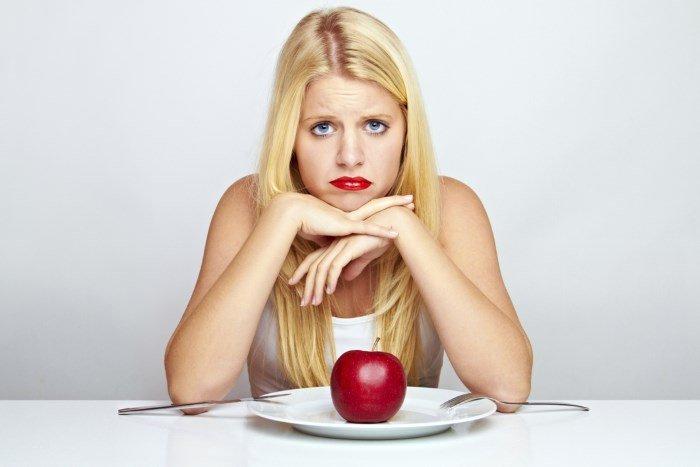Девушка на строгой диете