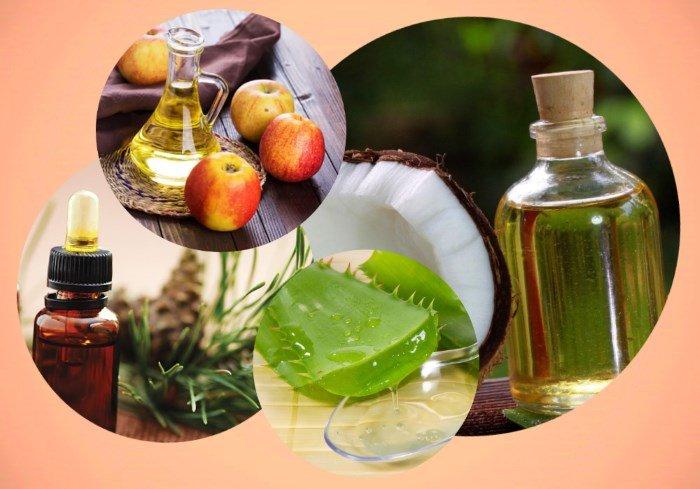 Состав маски: кокосовое и сосновое масло, сок алоэ и яблочный уксус