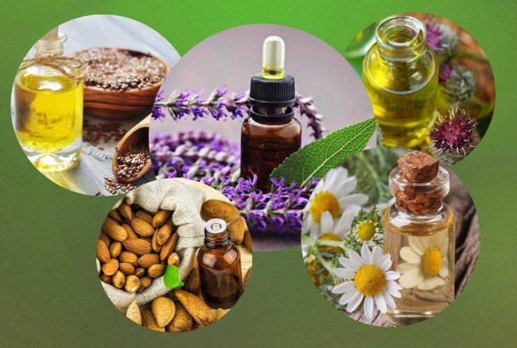 Масла против сечения волос: миндальное, репейное, льняное, ромашковое и шалфея