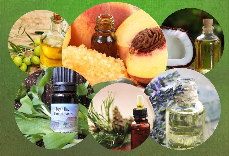 Масла для секущихся кончиков волос: персиковое, оливковое, кокосовое, листьев Бэй, сосны и лаванды