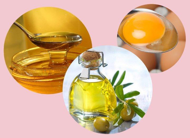 Оливковое масло, мед и желток