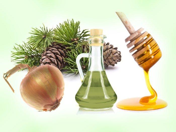 Лук, мед и масло пихты