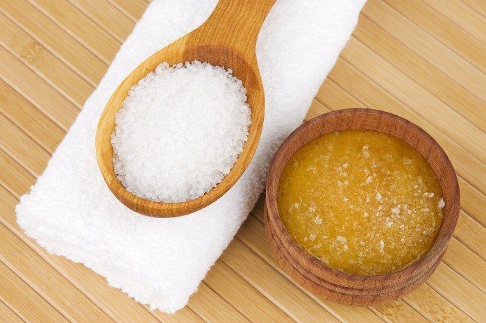 Маска для волос на основе масла и соли