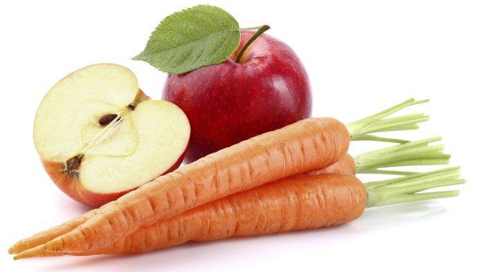 Яблоко и морковь для масок