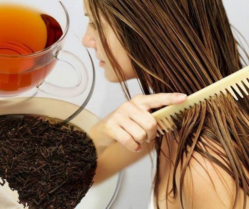 Покраска волос с помощью чая