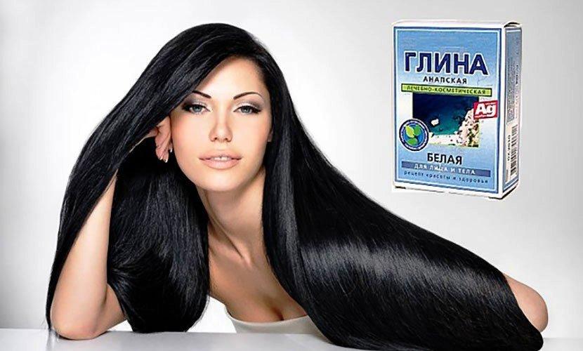 Маска с белой глиной для волос