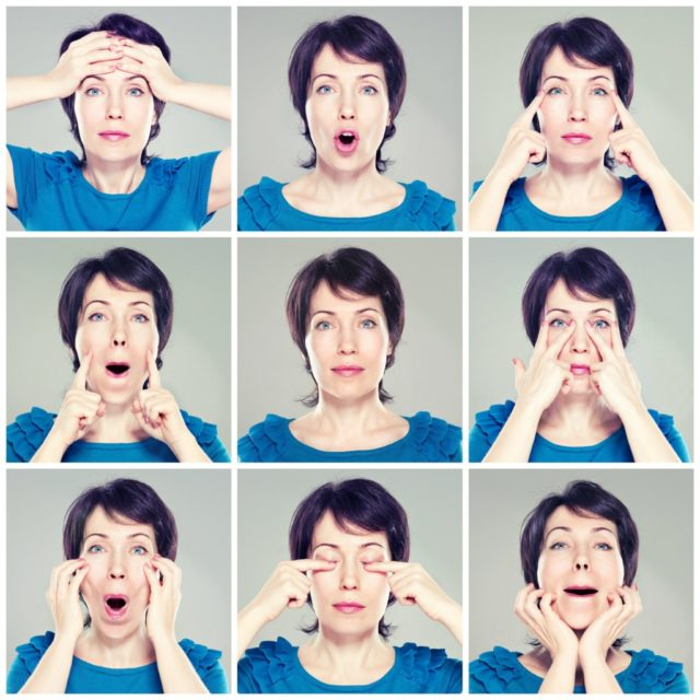 Лицевой фитнес предоставляет неплохую возможность справиться с проблемными местами (губы, лоб, глаза, шея)