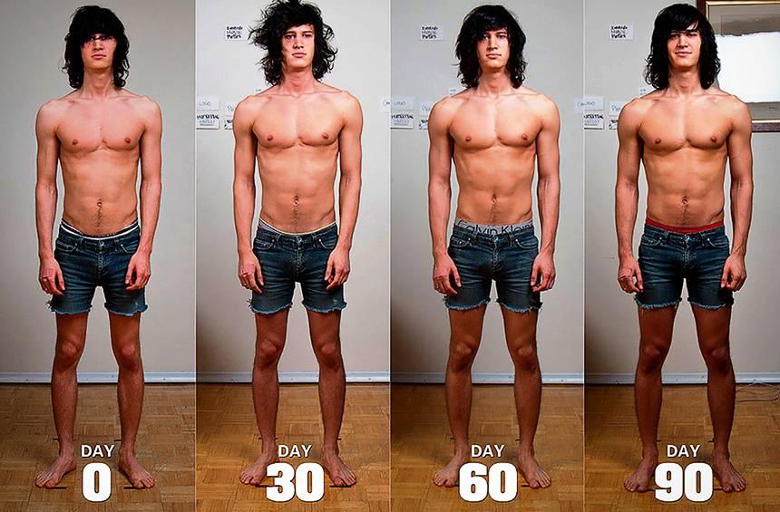 набор мышечной массы тела за 90 дней