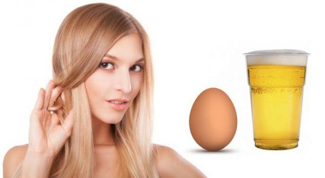 девушка яйцо и пиво